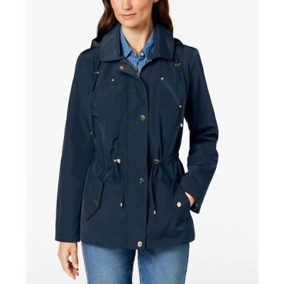 チャータークラブ ジャケット&ブルゾン アウター レディース Water-Resistant Hooded Anorak Jacket,  Intrepid Blue