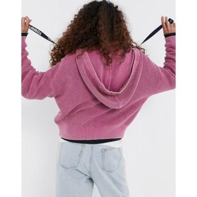 トミーヒルフィガー レディース パーカー・スウェットシャツ アウター Tommy Jeans zip-front hoodie in purple Violet