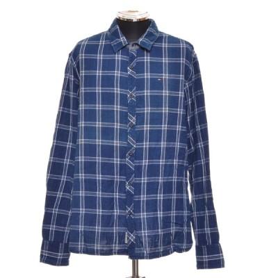 HILFIGER DENIM ヒルフィガーデニム TOMMY トミー チェックシャツ ロングスリーブ 長袖 サイズXL メンズ ブルー