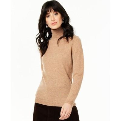 チャータークラブ Charter Club レディース ニット・セーター トップス Cashmere Turtleneck Sweater, Regular & Petite Sizes Heather Camel
