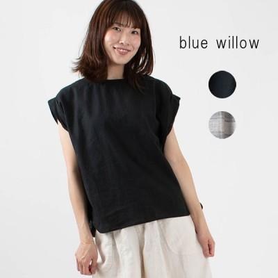 blue willow フレンチスリーブブラウス 020US11352 ナチュラルファッション ナチュラル服 40代 50代 大人コーデ 大人かわいい カジュアル シンプル