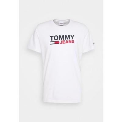 トミージーンズ メンズ ファッション CORP LOGO TEE - Print T-shirt - white