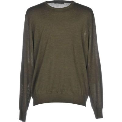 ブイネック VNECK メンズ ニット・セーター トップス Sweater Military green