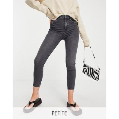 トップショップ Topshop Petite レディース ジーンズ・デニム ボトムス・パンツ washed black Jamie jeans ブラック