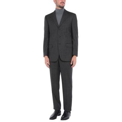 SET スーツ スチールグレー 46 バージンウール 100% スーツ