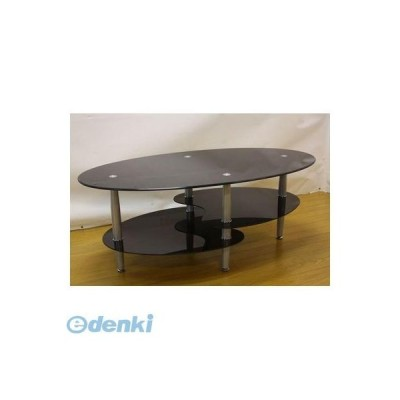 【個数:1個】大川リビング木工社 OKAWA LIVING 4571501392544直送 代引不可・他メーカー同梱不可 ガラステーブル バスター BK