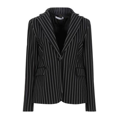 LANACAPRINA テーラードジャケット ブラック 42 レーヨン 50% / ナイロン 30% / ポリエステル 15% / ポリウレタン 5