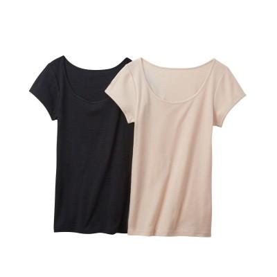 【WEB限定】吸汗速乾 綿混フレンチ袖インナー2枚組 (フレンチ袖・半袖・五分袖インナー)Underwear