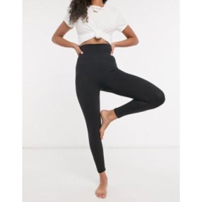 ナイキ レディース レギンス ボトムス Nike Yoga seamless cropped leggings in black Black