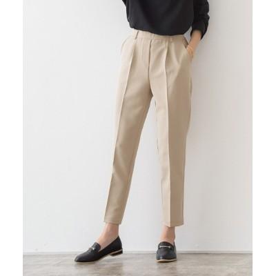 Pierrot / ストレッチツイル センタープレス テーパードパンツ WOMEN パンツ > スラックス