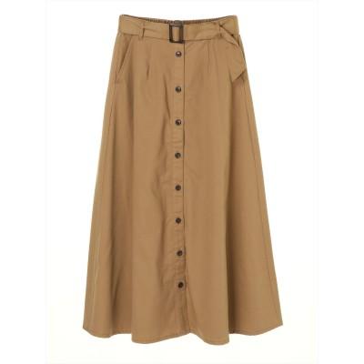 ・ELENCARE DUE フロントボタンフレアスカート