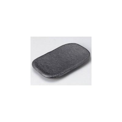 和食器石庭22cm長角皿(黒)/大きさ・22.2×13.4×2.2cm