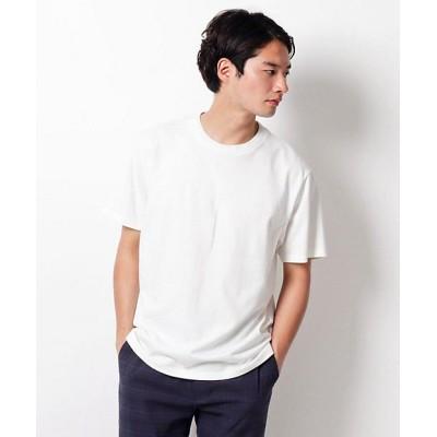 <THE SHOP TK(Men)/ザ ショップ ティーケー> 切り替えデザインクルーネックTシャツ シロ【三越伊勢丹/公式】