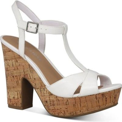 サンストーン Sun + Stone レディース サンダル・ミュール シューズ・靴 Jamie T-Strap Platform Dress Sandals White