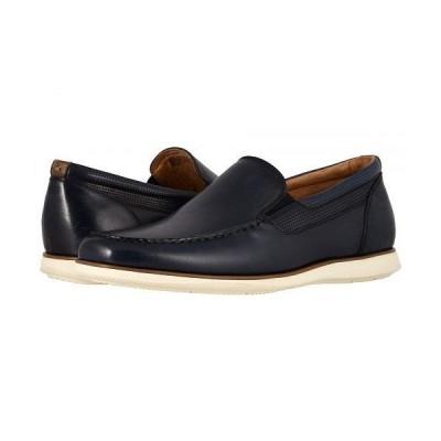 Florsheim フローシャイム メンズ 男性用 シューズ 靴 ローファー Atlantic Moc Toe Venetian Slip-On - Navy Smooth/White Sole