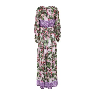 BLACK CORAL ロングワンピース&ドレス ライトパープル 40 コットン 70% / シルク 30% ロングワンピース&ドレス