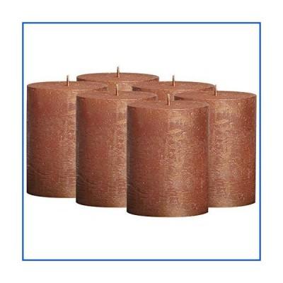 【新品】BOLSIUS 素朴なフルメタリック銅キャンドル - 無香料ピラーキャンドル 6本セット - 銅キャンドル