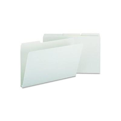 "Smead Pressboard File Folder, 1/3-Cut Tab, 1"" Expansion, Legal Size, Gray/G"