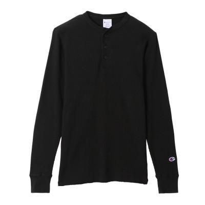 ヘンリーネックロングスリーブTシャツ ベーシック チャンピオン(C3-Q406)