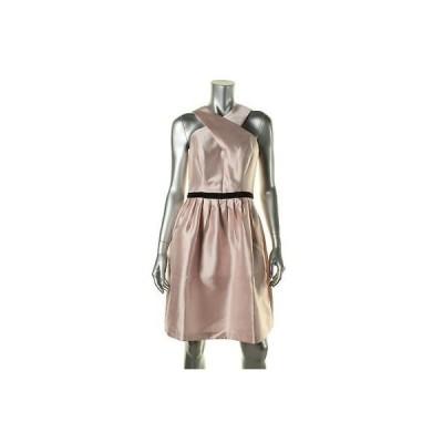 海外セレクション ドレス ワンピース Shoshanna 2251 レディース ピンク Twill Satin Lining Party Cocktail ドレス 6 BHFO
