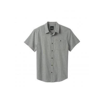 Prana プラナ メンズ 男性用 ファッション ボタンシャツ Jaffra Short Sleeve Shirt - Gravel