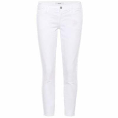 ジェイ ブランド J Brand レディース ジーンズ・デニム ボトムス・パンツ Low-rise cropped skinny jeans Braided Blanc