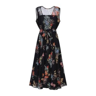 MARELLA 7分丈ワンピース・ドレス ブラック 40 ポリエステル 100% 7分丈ワンピース・ドレス