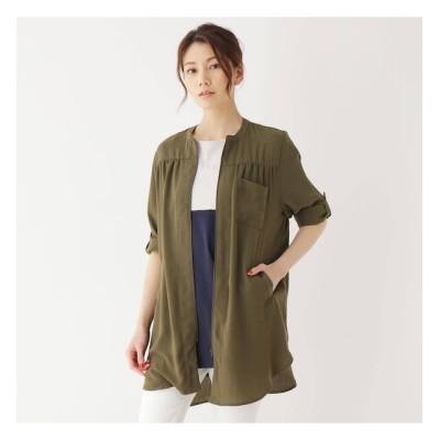 【シューラルー/SHOO・LA・RUE】 【M-LL】シーアロングシャツジャケット