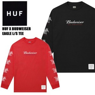 ハフ(HUF)BUDWEISER EAGLE LONG SLEEVE T-SHIRT L/S ロングTシャツ/長袖/男性用/メンズ【26】[AA]