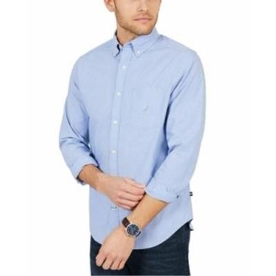 nautica ノーティカ ファッション アウター Nautica NEW Riviera Blue Mens Size XS Classic Fit Button Down Shirt