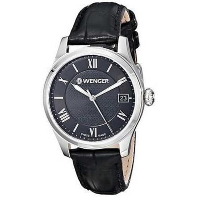 腕時計 ウェンガー Wenger Terragraph レザー レディース 腕時計 0521.104