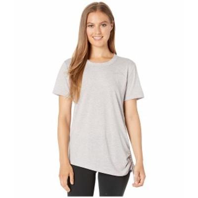 ナイキ レディース シャツ トップス Miler Top Short Sleeve Cinched Atmosphere Grey/Heather/Reflective Silver