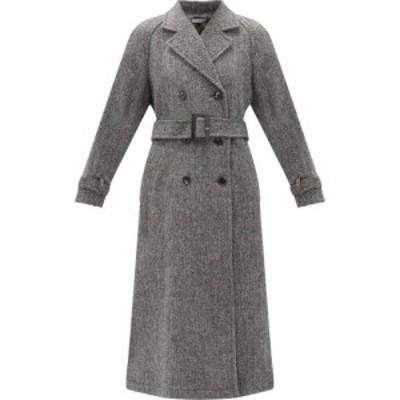 ベラフルード Bella Freud レディース コート ダブルブレストコート アウター Johns double-breasted herringbone wool-tweed coat Grey
