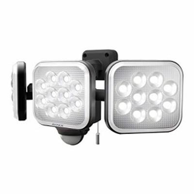 ムサシ(MUSASHI) センサーライト ブラック 本体サイズ: 幅 32.2 * 奥行 15 *高さ 13.5 cm 14W*3灯フリーアーム式LEDセンサーライト LED-A
