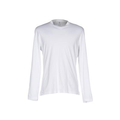 ブルネロ クチネリ BRUNELLO CUCINELLI T シャツ ホワイト XXL コットン 100% T シャツ