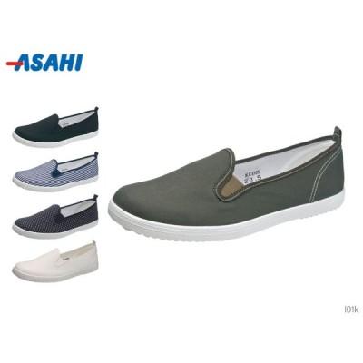 アサヒスニーカー L01K キャンバス スリッポン スニーカー レディース 靴