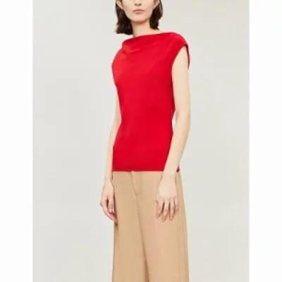 セオリー ブラウス・シャツ draped crepe blouse Peppercorn