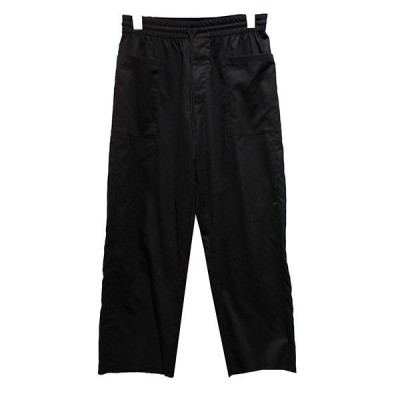 【4月12日値下】KURO イージーパンツ フロントポケットデザイン パンツ ブラック サイズ:0 (青山店)