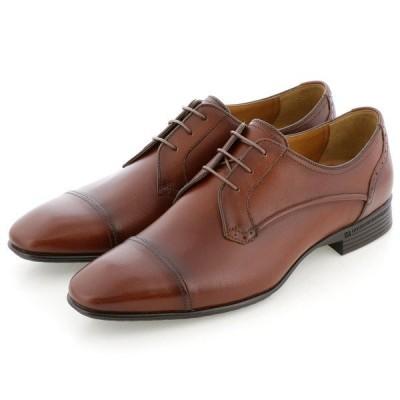 即日発送可 QUOカードプレゼント&ポイント15倍  キャサリンハムネット 31616 ストレートチップ 紐 メンズ ビジネスシューズ 革靴  紳士靴 茶 ブラウン