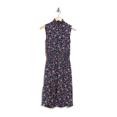 ナネットレポー レディース ワンピース トップス Sleeveless Smocked Neck Dress NVY 166-3