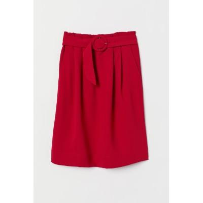 H&M - ベルテッドスカート - レッド