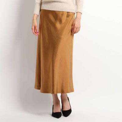 クードシャンス COUP DE CHANCE マーメイドサテンスカート (ブラウン)