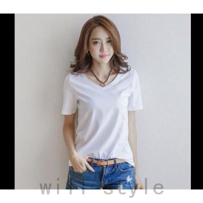 Tシャツレディース半袖トップス無地カジュアルTシャツかわいいゆったり2020夏新作