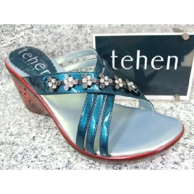 tehen テン TN6521 ブルー│ レディース サンダル 22.0cm-25.0cm
