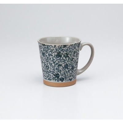〔美濃焼 マグカップ〕土物サラサ青 マグ