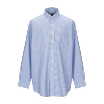 ブルックス ブラザーズ BROOKS BROTHERS シャツ アジュールブルー 14 ½ スーピマ® 100% シャツ