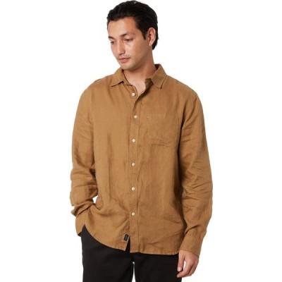 ザアカデミーブランド Academy brand メンズ シャツ トップス hampton linen shirt Almond