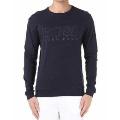 BOSS ボス ファッション トップス Hugo Boss Mens Cotton Sport Sweatshirt Sweater Jacket Navy 50310598 size S