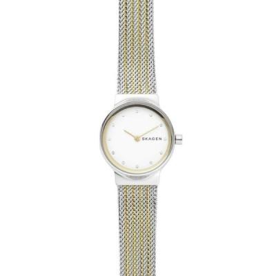 腕時計 スカーゲン レディース *BRAND NEW* Skagen Women's Two Tone Stainless Steel Mesh Bracelet Watch SKW2698