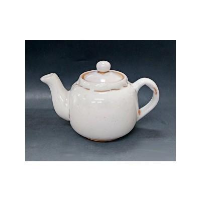 【萩焼 急須】 白萩茶こし付ポット<2-2A>